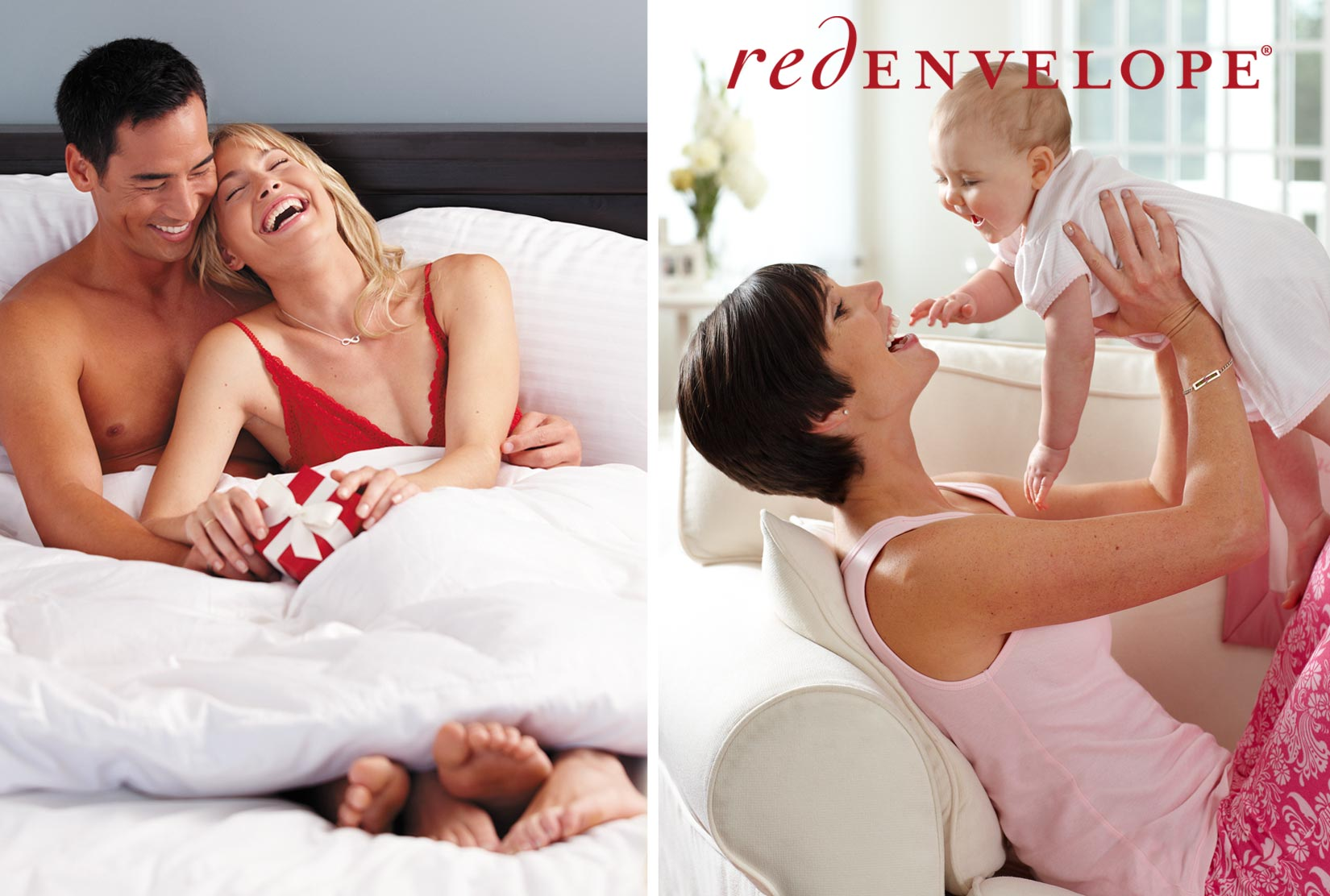 Couple_bed_laughing_mother_with_baby